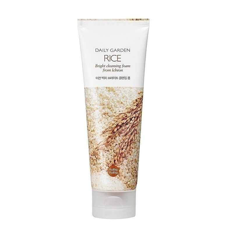 Daily Garden Rice Bright Cleansing Foam - Holika Holika