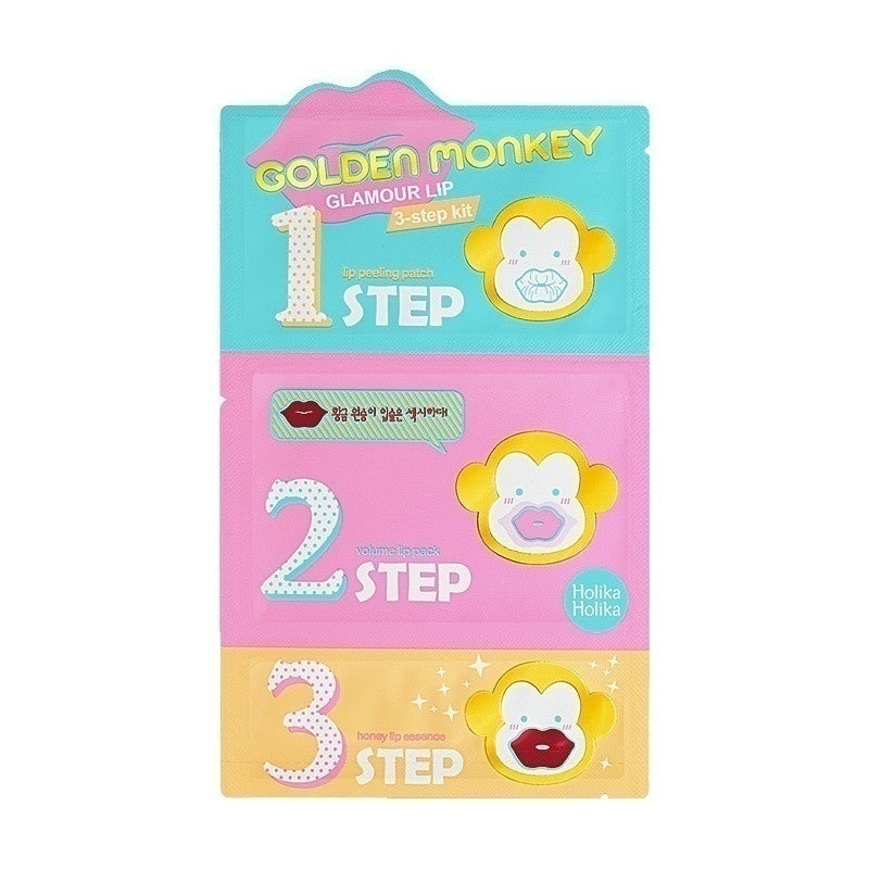 Golden Monkey Glamour Lip 3-Step Kit - Holika Holika