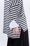Melanie Stripe Tunic Grey