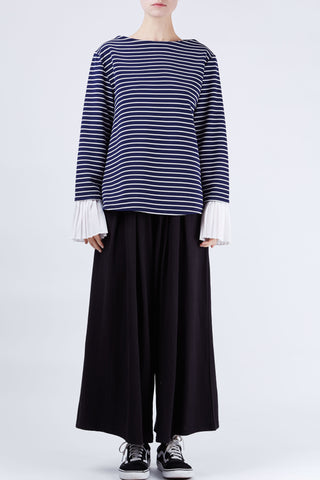 Sara Stripe Top Navy