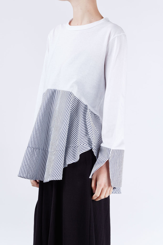 Noah Stripe Top White