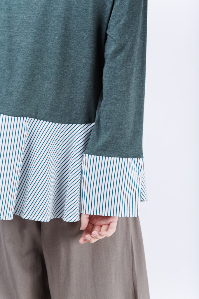 Noah Stripe Top Green