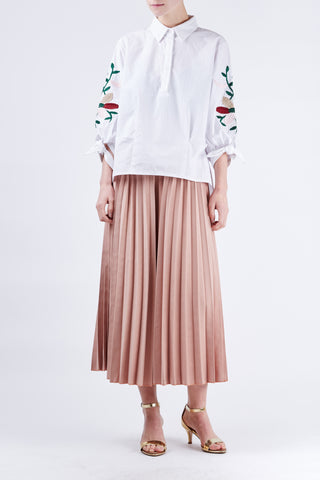 Georgia Pleated Pants Pink