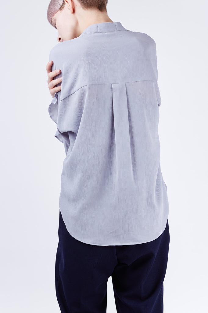 Ruffle Sleeve Top Grey