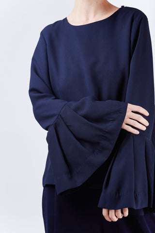 Francesca Sleeve Top Navy