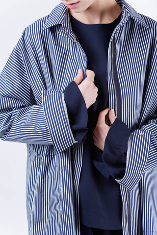 Daniel Stripe Jacket Navy