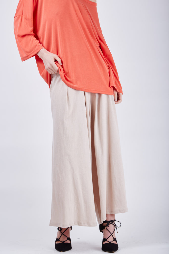 Susana Wide Pants Beige