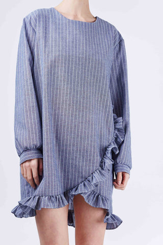 Laura Stripe Dress Blue