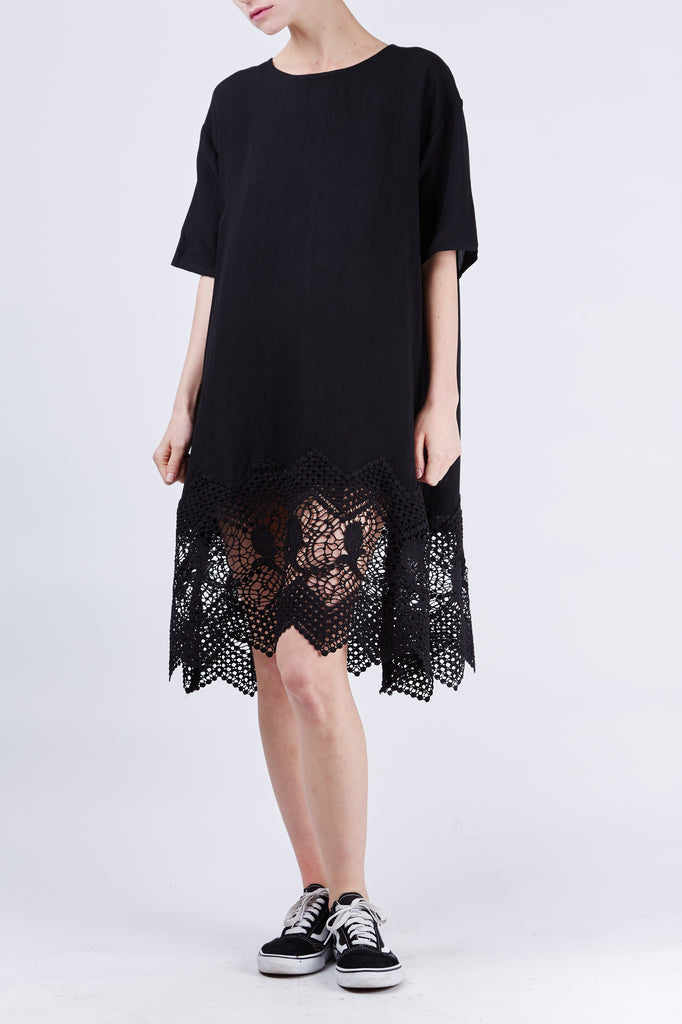 Zoe Lace Dress Black