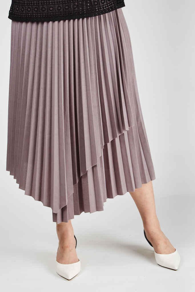 Mia Pleated Skirt Beige