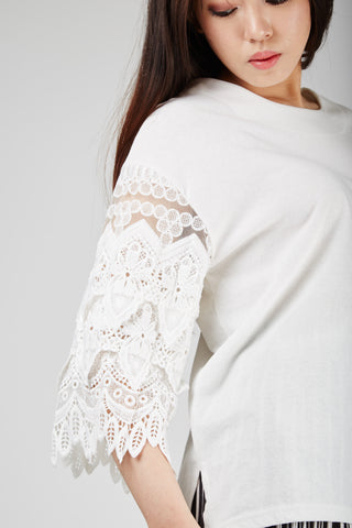 Monica Lace Top Ivory