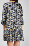 Marisa Print Dress Navy