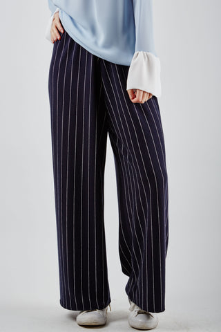 Eva Stripe Trousers Navy