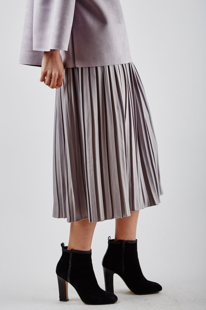 Elena Pleated Skirt Grey
