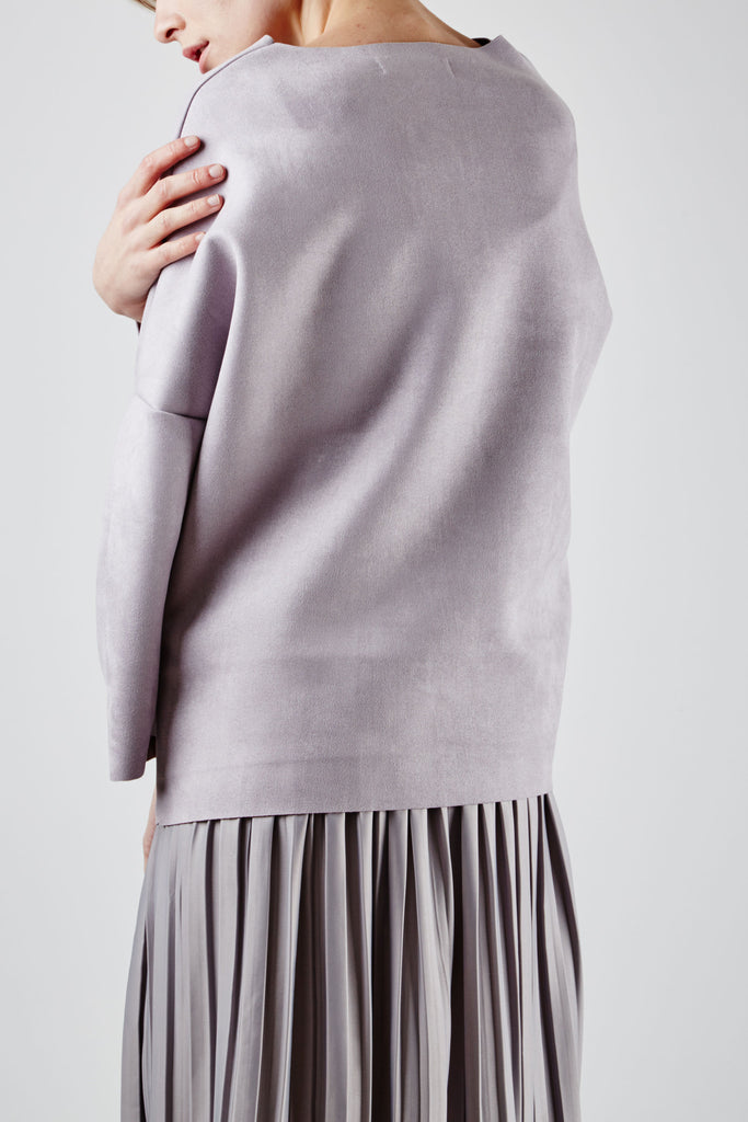 Mina Suede Top Lilac