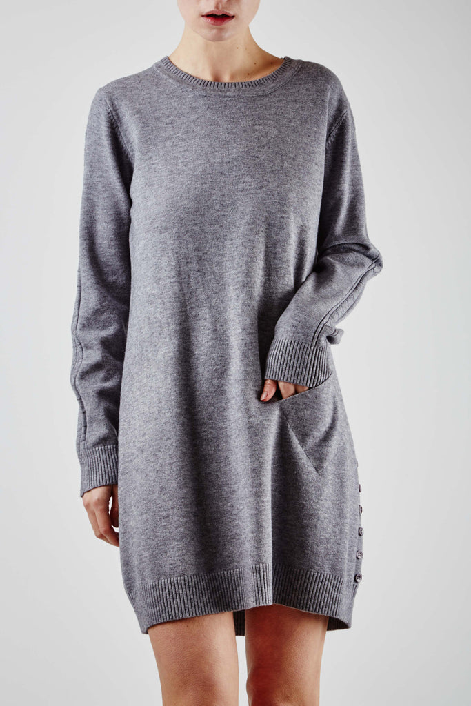 Paula Pocket Dress Grey
