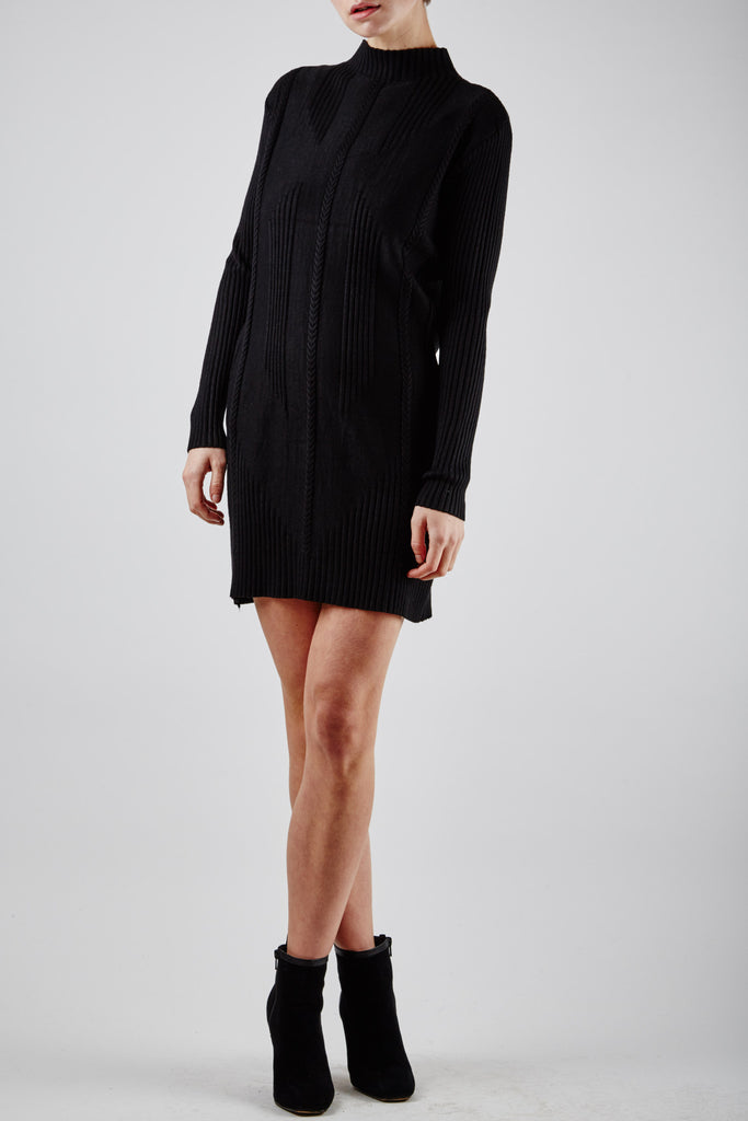 Britney Knit Dress Black