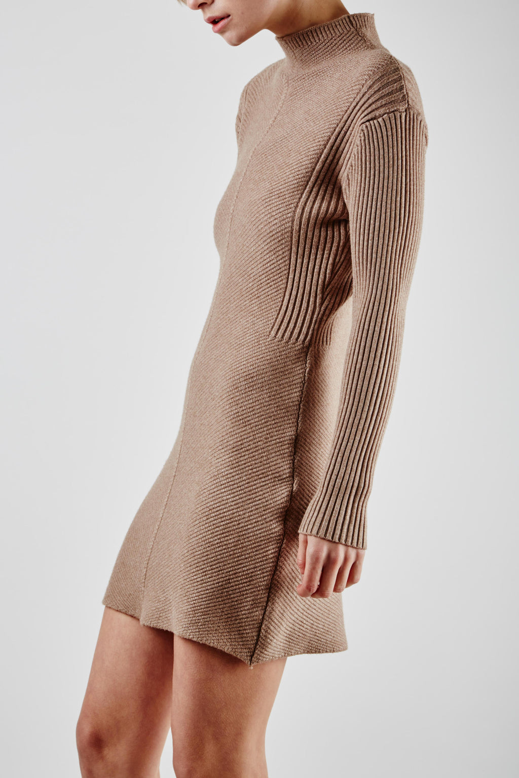 Belinda Knit Dress Beige