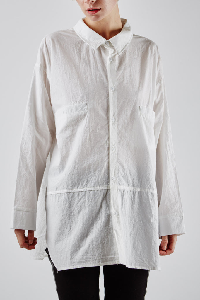 Catarina Pocket Shirt White