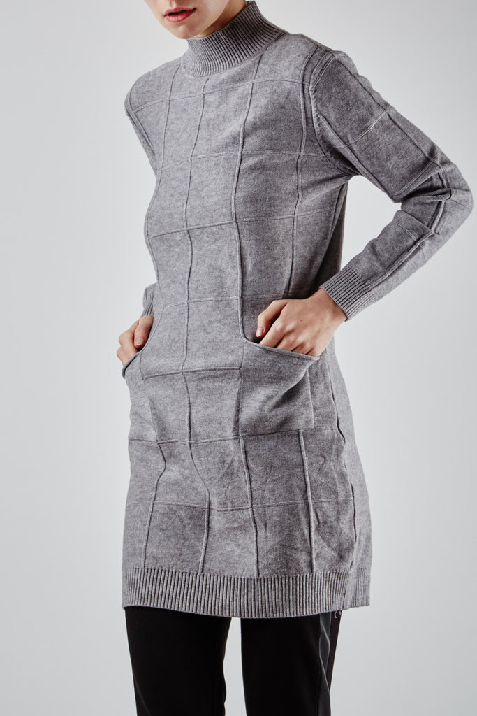 Nadia Knit Dress Grey