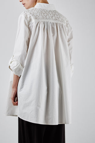 Lauren Lace Tunic Ivory