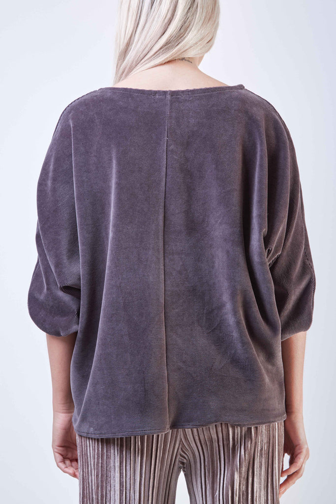 Corduroy Top Dark Grey