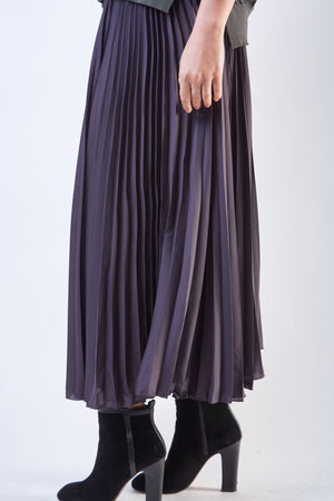 Wide Pleated Pants Grey