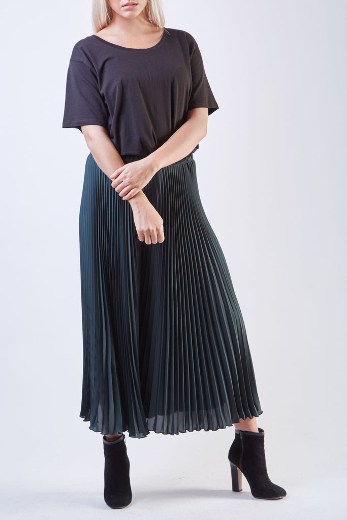 Wide Pleated Pants Green