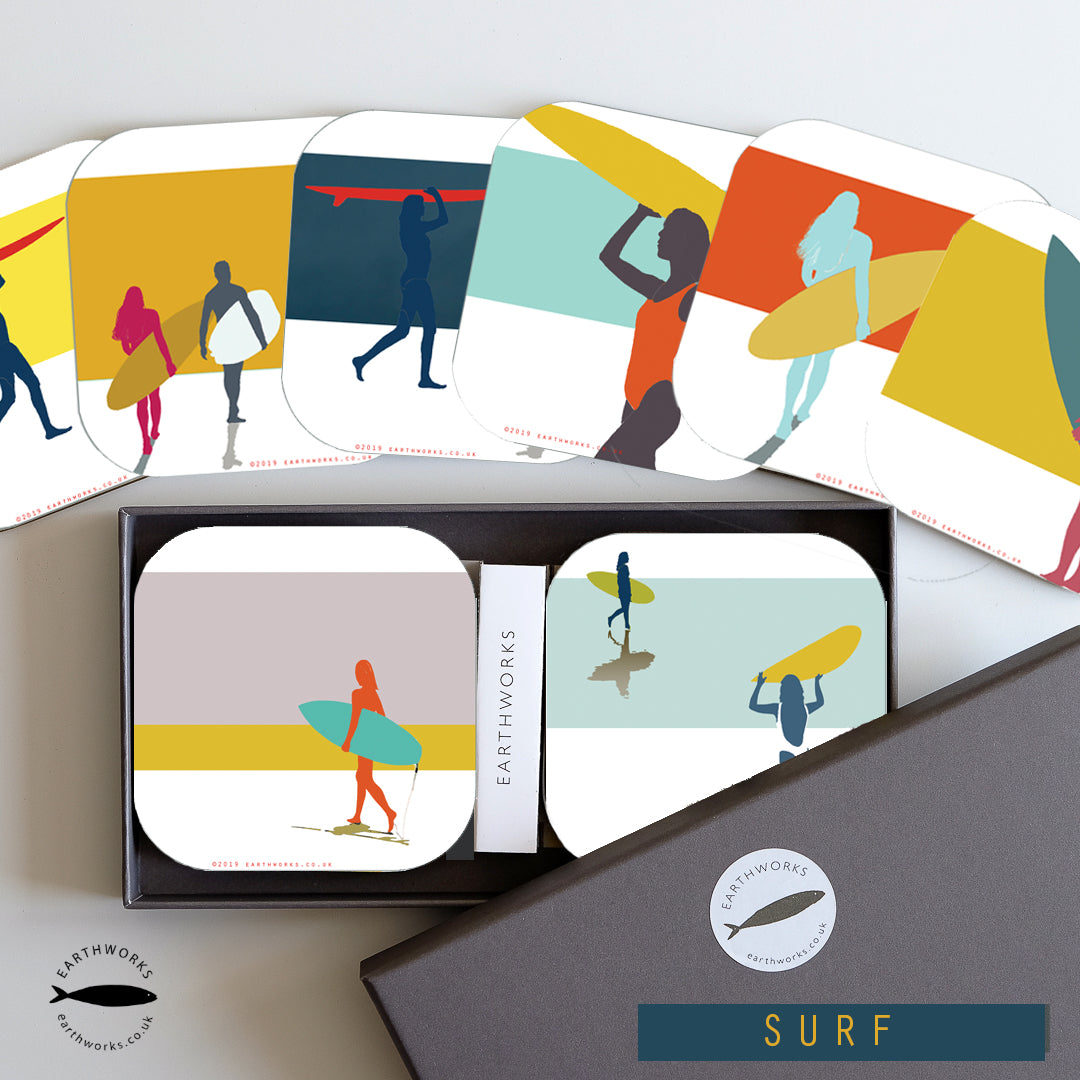 art mat BOXED SET of 8 - SURF - E A R T H W O R K S