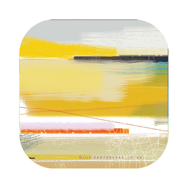 Coaster art mat St Ives homewares coastal Cornwall