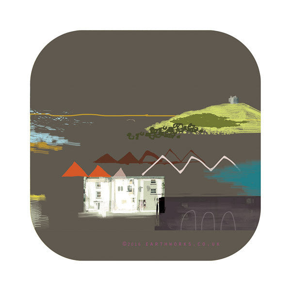 Coaster art mat St Ives homewares coastal Cornwall St Ives