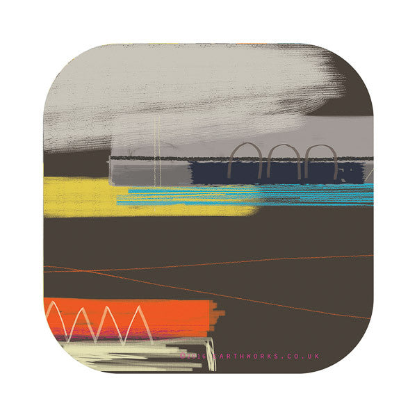 Coaster art mat St Ives homewares coastal Interiors Cornwall