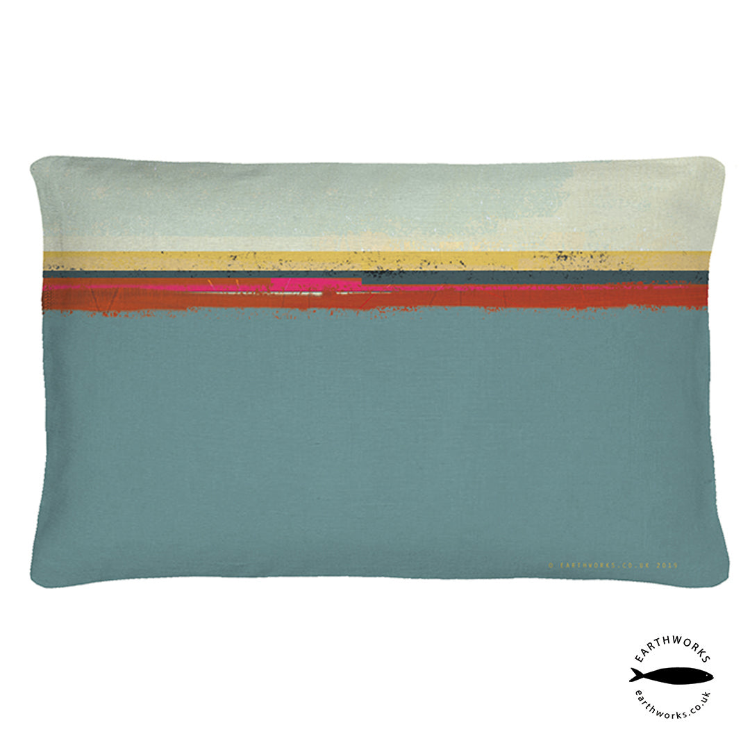 cushion - PAINTBOX BLUE - CR003 - E A R T H W O R K S