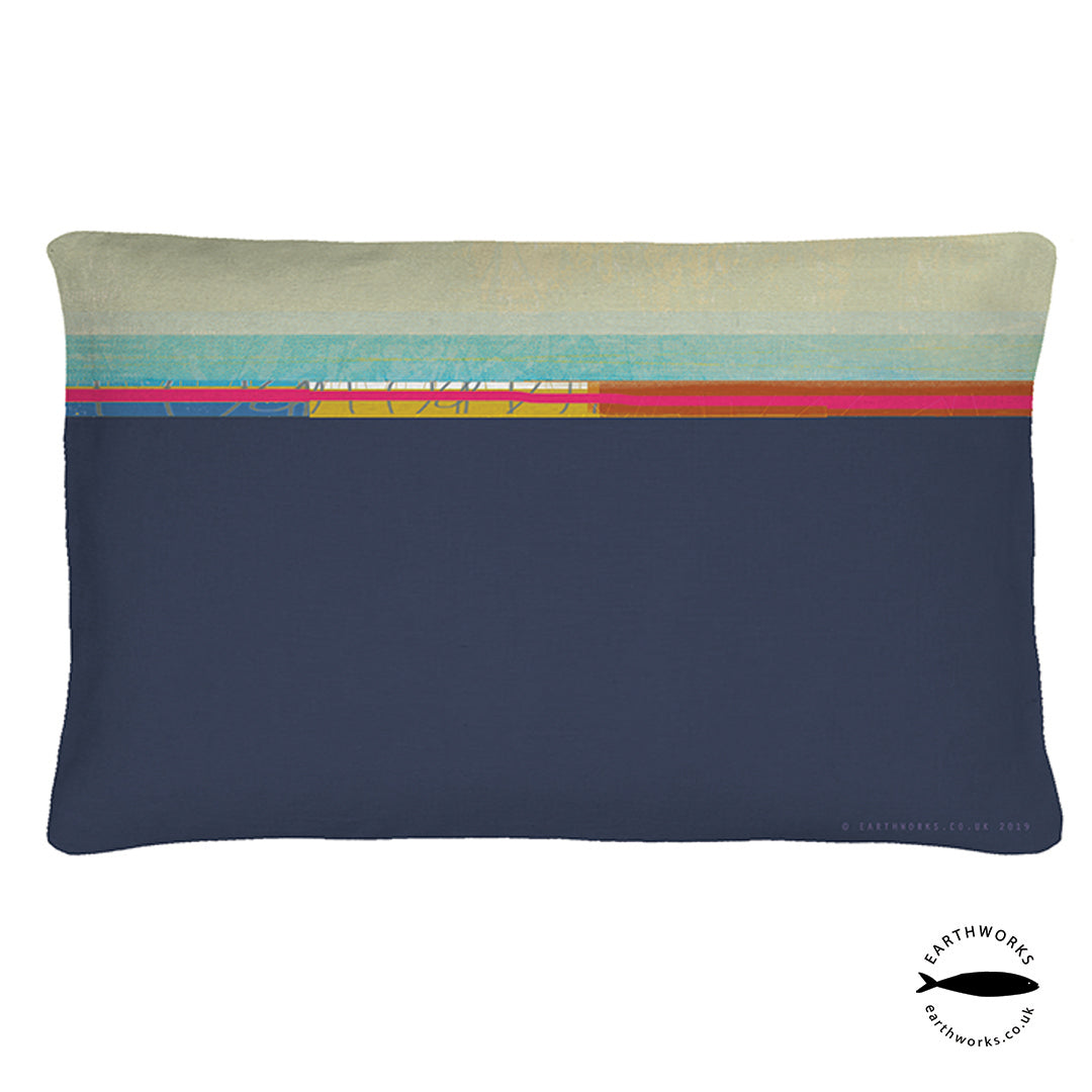 cushion - PAINTBOX DARK BLUE - CR005 - E A R T H W O R K S