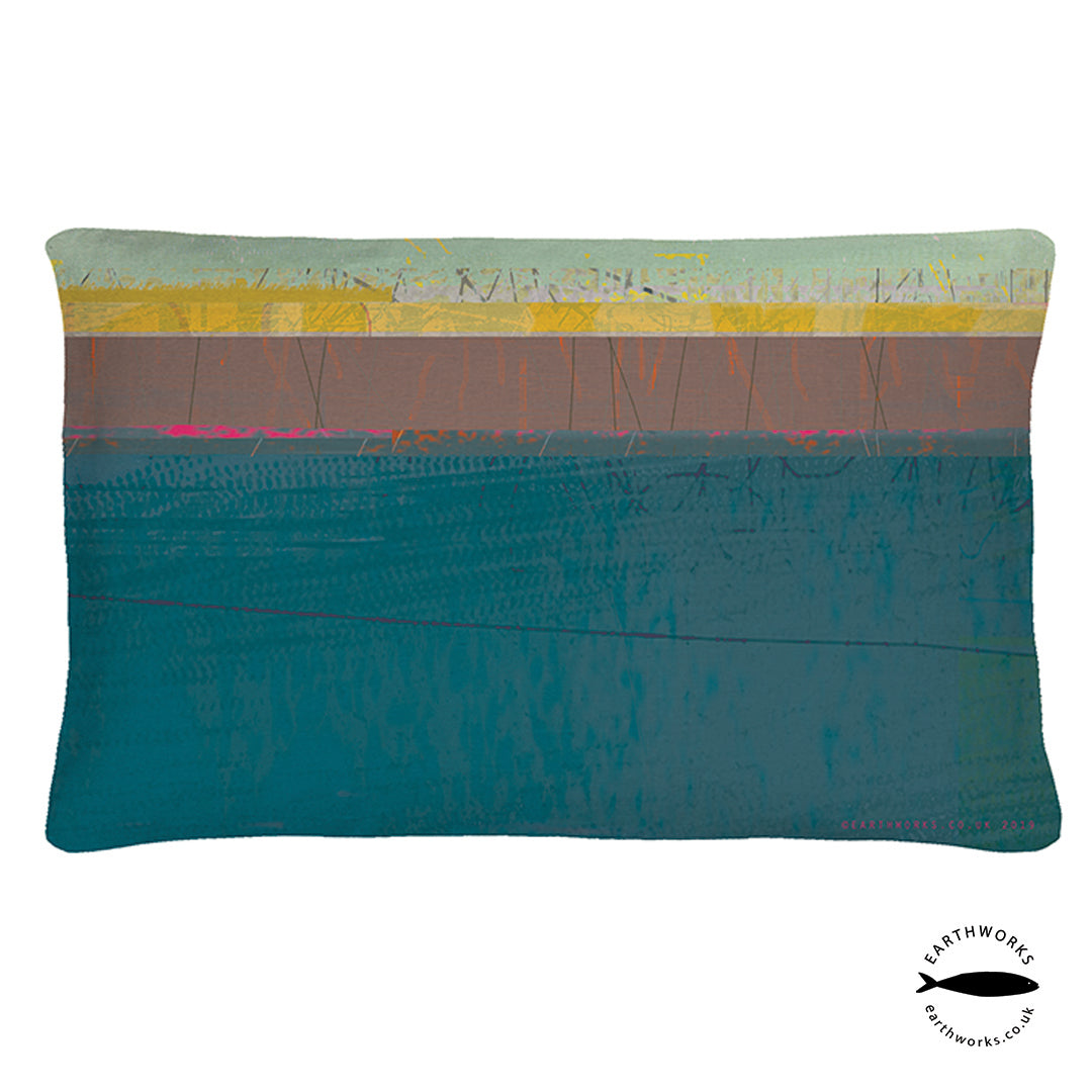 cushion - PAINTBOX TEAL - CR002 - E A R T H W O R K S