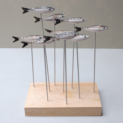 carved fish shoal