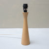 WOOD LAMP BASE - solid beech - E A R T H W O R K S