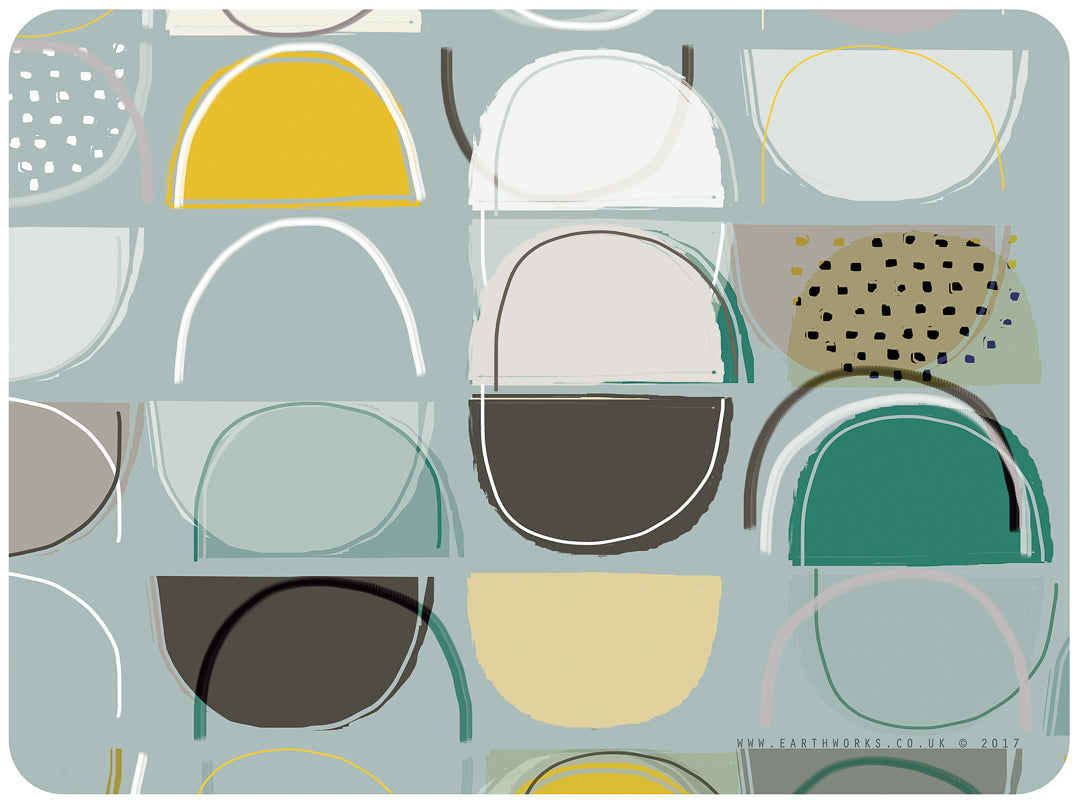 placemat - LOBSTER POTS BLUE - PM007 - E A R T H W O R K S