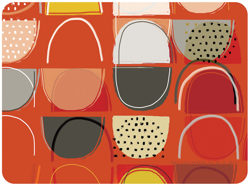 placemat - LOBSTER POTS RED - PM008 - E A R T H W O R K S