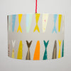 Designer Lampshades Earthworks St Ives. FISH TAILS Grey