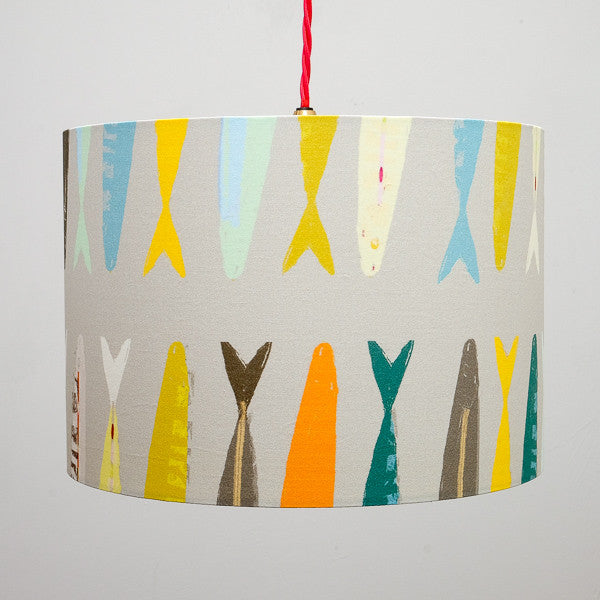 lampshade - FISH TAILS GREY - LS014