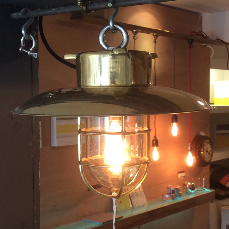 Original Ships hanging light brass