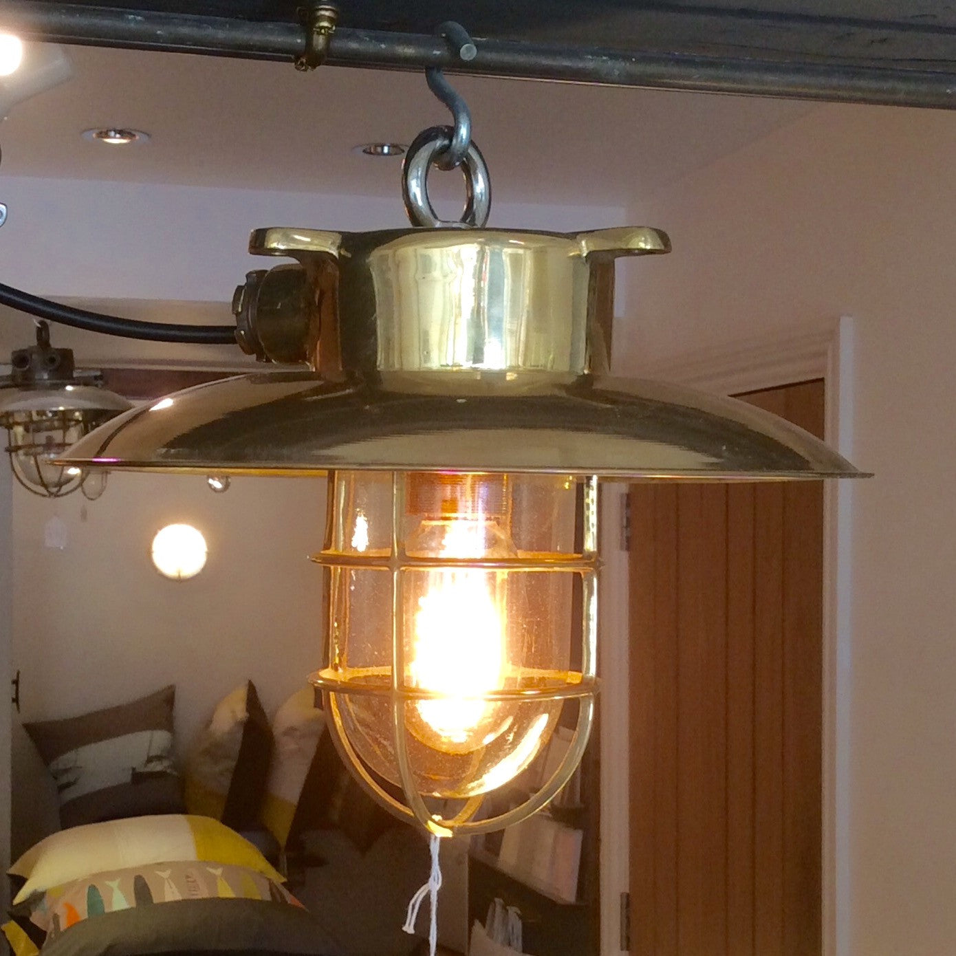 Original Ships hanging light brass - E A R T H W O R K S