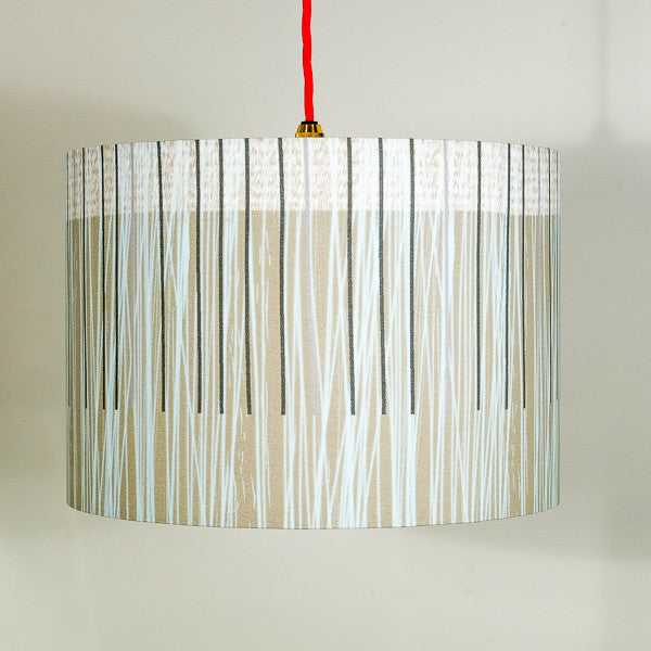 lampshade - GREY LINES - LS015
