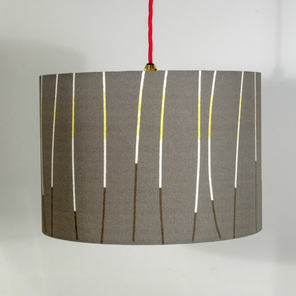 lampshade - CHARCOAL LINES - LS002