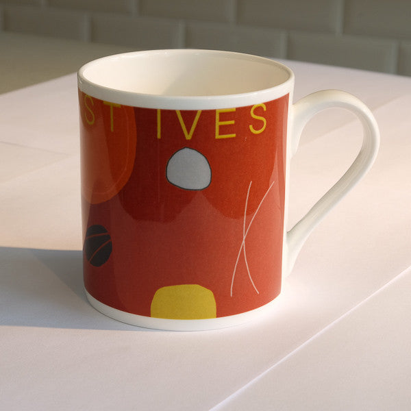 mug - RED ABSTRACT