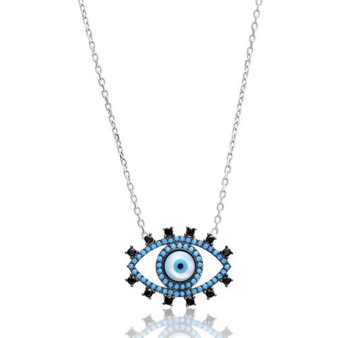 """Perla"" Evil Eye Necklace"