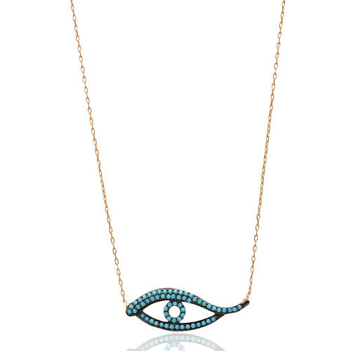 """Rosie"" Evil Eye Necklace"