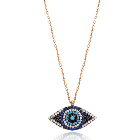 """Risi"" Evil Eye Necklace"