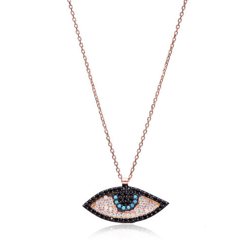 """Ana"" Evil Eye Necklace"